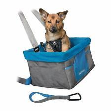 Kurgo CAR Booster SEAT Inc Belt Tether Small Dog Nutmeg/Grey Rover Heather Style