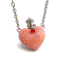 Amorentia Love Potion Necklace Harry Potter Inspired Pink Heart shaped Bottle
