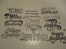 30 HAPPY BIRTHDAY SENTIMENT DIE CUTS.................CARDMAKING