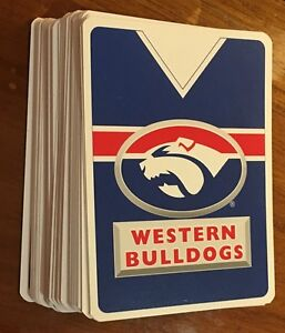 Set of WESTERN BULLDOGS AFL Pack of PLAYING CARDS