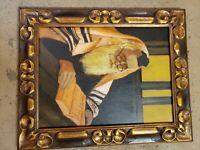 Antique gold framed oil painting