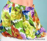 VTG 90s Mimi Chica Green colorful Mini Floral Summer Skirt Sz M L