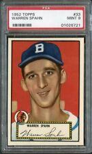 1952 Topps 33 Warren Spahn {Black back} Braves PSA 9 01026721