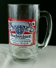 Beer glass Stein Budweiser Bud the King of beers Always Fast Shipping