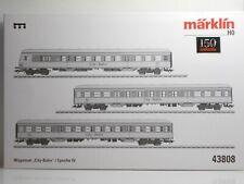 """MÄRKLIN 43808 Wagenset """"City-Bahn"""", DB Ep IV"""