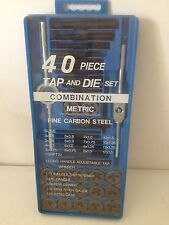 TAP AND DIE SET, 40 PIECE COMBINATION