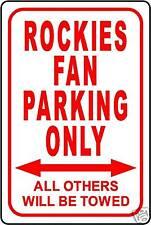 "ROCKIES FAN PARKING ONLY 12""x18"" ALUMINUM SIGN"