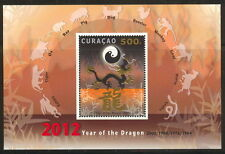 CURACAO  2012 jaar van de draak 75 blok    POSTFRIS/MNH