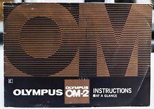 Olympus Om-2 camera instruction manual (short version)