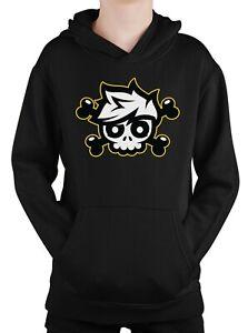 Crainer Skull Hoodie Gaming Youtuber Gamer Vlogger Sweatshirt Jumper Kids Adults