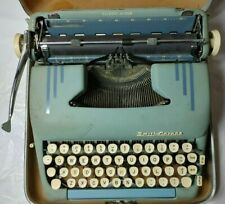 Vintage Green 1956 Smith Corona Green Silent-Super Manual Typewriter with Case