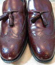Vintage OAKTON Leather WingTip Loafers-Sz 10 D Mens Shoes w/tassels ReddishBrown