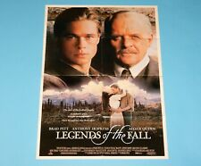 DOUBLE SIDED FOLDOUT POSTER LEGENDS OF THE FALL / PJ & DUNCAN 1994 HITKRANT