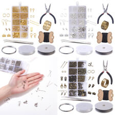 DIY Jewelry Making Findings Supplies Starter Repair Tools Kit Bracelet Earrings
