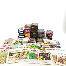 Lot of 31 Atari 2600 Games ET Pitfall Donkey Kong Warlords etc Most With Manual