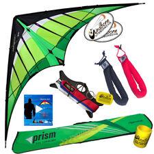 Prism Hypnotist Delta Dual-Line Stunt Kite Kit +Vid lnk + Padded Straps - Citrus