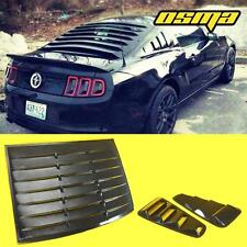 2005-2014 Mustang Coupe Black 1/4 Side Vent Window Louvers+Rear Sun Shade Cover