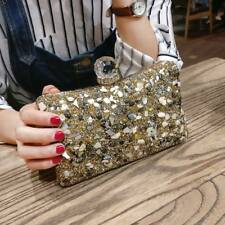 Women's Clutch Crystal Diamond Bridal Wedding Party Evening Bag Chain Handbag