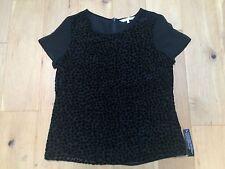BNWT RJR JOHN ROCHA Ladies Black Sheer Velvet Top @ Size 12 NEW Party Cocktail