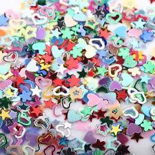 5000Pcs 3mm Mixed Glitter Heart Star Flower Sequins Nail Art Stickers Decals DIY