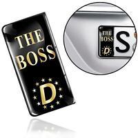 3D Gel Silikon Aufkleber Nummernschild Kennzeichen Stickers EU The Boss Plakette