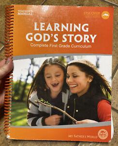 My Father's World 1st Grade Learning God's Story Teacher's Manual MFW Homeschool