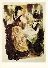 LARGE Russian card scene to Guy de Maupassant's novel BEL AMI by K.Rudakov