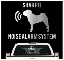 Shar Pei Noise Alarmsystem Auto Aufkleber Hund Folie Faltenhund Chinese