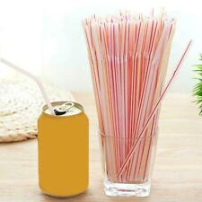 Drinking Straws Stripes Flexible Bendy Plastic Disposable Birthday Straws M0J6