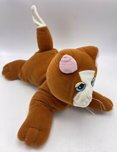 "Pound Puppies Cat Orange 21985 Tonka 12"" Plush Stuffed Animal Puppy Vintage"