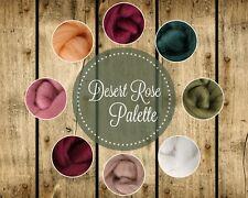 DESERT ROSE Color Palette Wool Roving Fiber 2.oz./56 grams Felting Spinning Soap