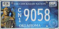 Oklahoma  License Plate, Original Nummernschild  9058  ORIGINALBILD