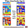 Large A4 Wipe Clean Kids Learning School Educational Books Maths Spelling Age 6+