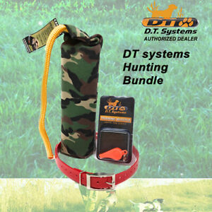 """DT Systems Pro Orange Whistle & 3/4"""" Red Dog Strap & Large Camo Canvas Dummy"""