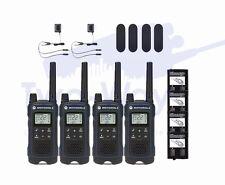 Motorola TALKABOUT T460 Two-Way Radio 22 Channel Walkie Talkie NOAA PTT 4-PACK