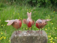 3x Rustic Robin Birds Garden Ornaments Lawn Statue Outdoor Decorative Vintage