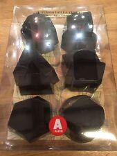 Alessi AMT13S B Il Tempo Della Fiesta set of 6 silicone moulds in black REDUCED