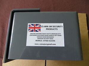 SHIPPING CONTAINER BOLT ON LOCK BOX RIGHT HAND OPENING DOOR SECURITY UK Made