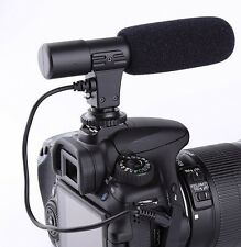 Microphone shotgun condenser stereo studio professional for Canon t6/5/i/sl1 xti