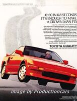 1989 Toyota Mr2 Supercharged Red Original Vintage Print Advertisement Ad P36