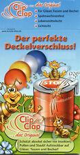 """4 x ClipClap-Deckel""""Quattro"""" Trinkglasdeckel,Gläserdeckel,Insektenschutz,Gläser"""