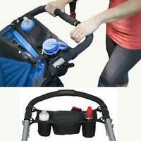Baby Stroller Organizer Carriage Bottle Cup Holder Bag For Pram Parent Console