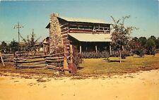 Gainesville Georgia~Restored Log Cabin~Split Rail Fences~Hwy 129~1950s Roadside