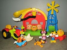 Maison/Ferme/Moulin Figurines  MICKEY - Minnie Dingo Pluto animaux Tracteur