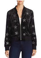 Sanctuary Women's Stargazer Velvet Lightweight Bomber Jacket, Size Small