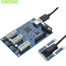 Mini PCIe 1 to 3 PCI Express 1x slot Adapter Port Multiplier Graphics Riser Card