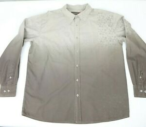 Colorado Jeans Men's Patterned Long Sleeve Shirt Brown Size XL