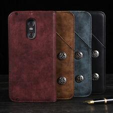 Pour LG / HTC - Premium Retro Veritable Cuir Coque Etui Housse TPU Cover Case