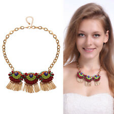 Fashion Women's Gold Plated Chain Statement Charm Pendant Necklace Jewelry Gifts
