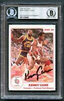 Kenny Carr #105 signed autograph auto 1985-86 Star Basketball Card BAS Slabbed